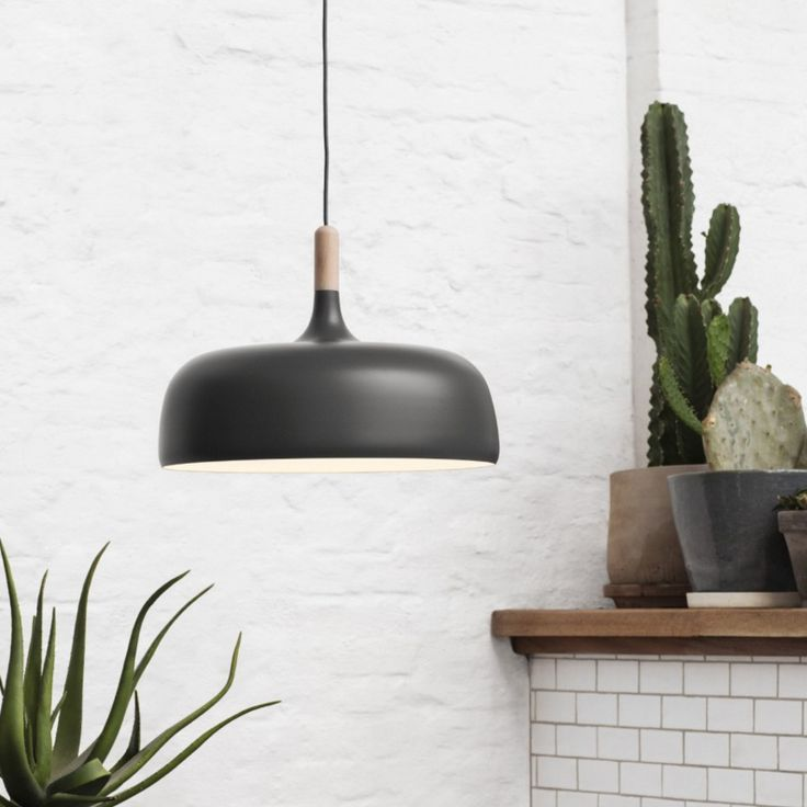 Kitchen: Acorn pendant lights for over island bench