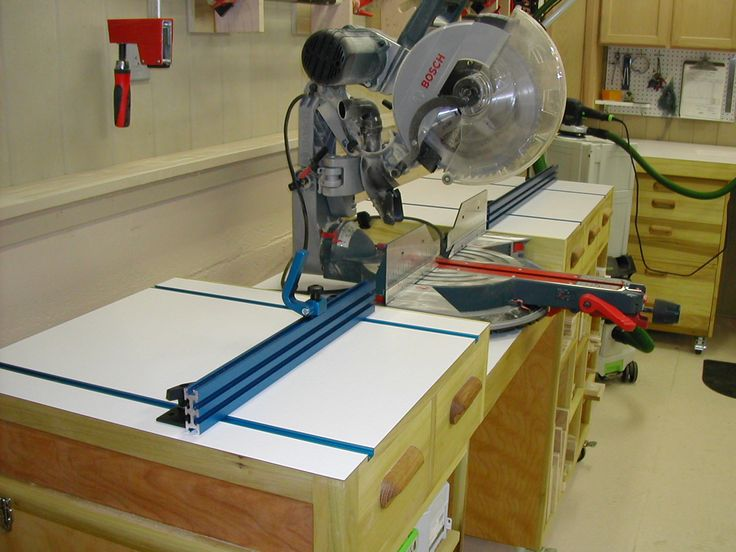 Miter Saw Work Station The Down To Earth Woodworker