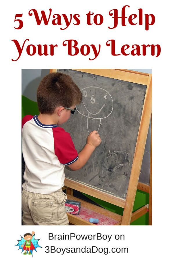 Boys Learning -- 5 ways to help Five Ways to Help Your Boys Learn
