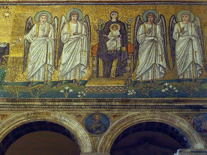 San Apollinare Nuovo w Rawennie, Foto.: (c) Krzysztof Firkowski. mozaika