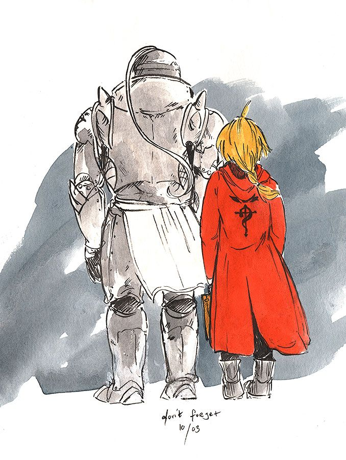 "Fullmetal Alchemist - Alphonse and Edward Elric - ""Heart Made Fullmetal"" by foglight on DeviantArt"