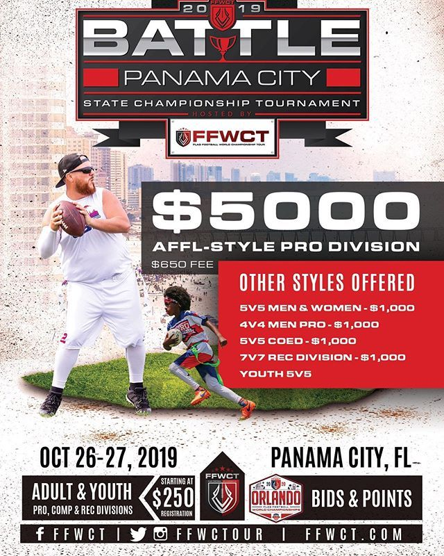 This Tournament Is Heating Up With Teams Coming In From All Over The Country Ffwct Flagfootball Battlepcb With Images Flag Football Tournaments Panama City Panama