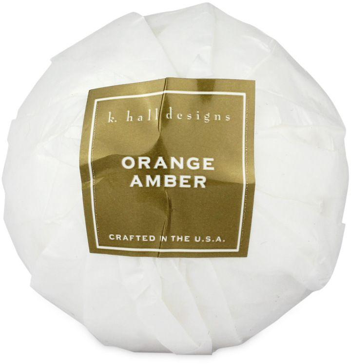 Orange Amber Bath Bomb by K. Hall Designs (4.3oz Bath Bomb)