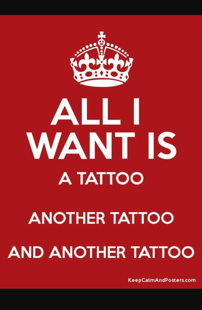 Keep Calm All I Want Is A Tattoo Another And