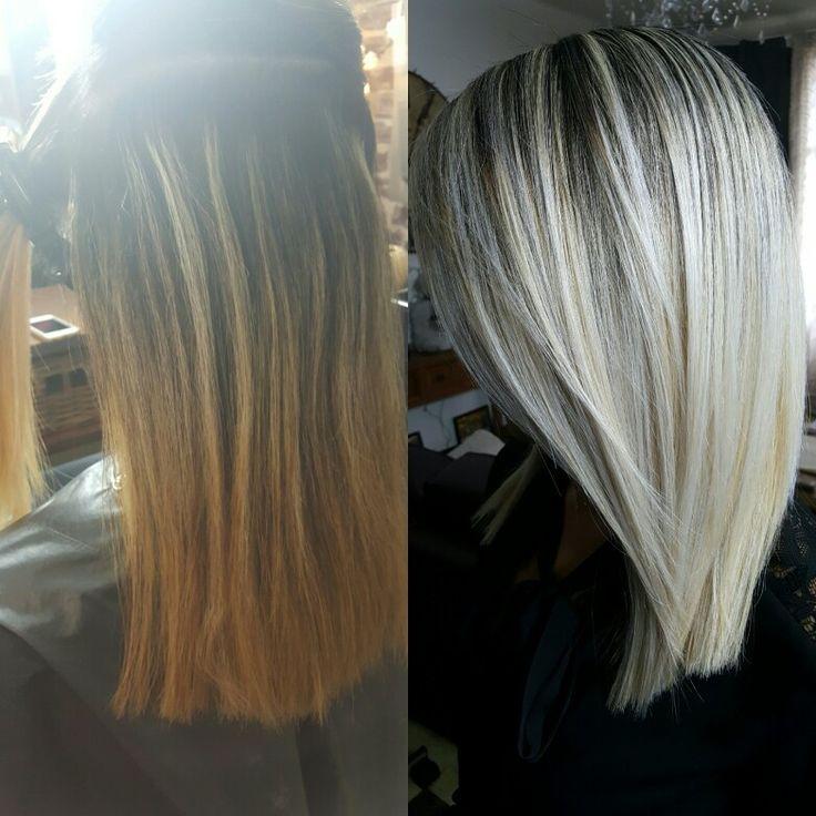 Les 25 meilleures id es concernant blond polaire sur pinterest blond platine couleur blonde - Balayage blond blanc ...