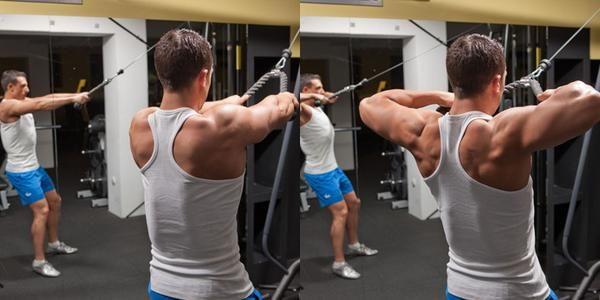 Arka omuz ve sırt kasları için Face Pull