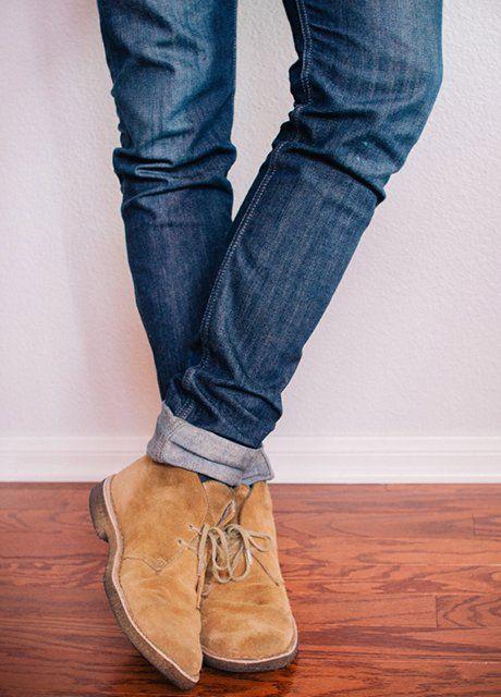 Mens Tan Skinny Jeans