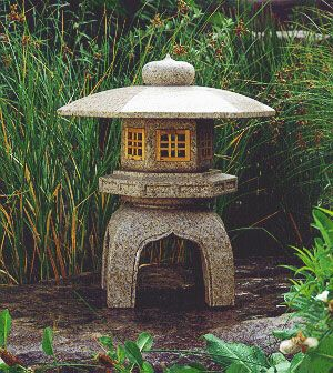 """Antique Japanese Yukimi Lantern. """"...this lantern is designed to capture the snow on its roof, and instill a sense of purity and serenity to the viewer."""""""