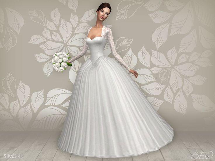Lana CC Finds - Wedding dress - Cynthia (S4)