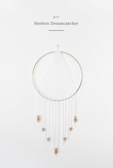 This DIY dreamcatcher puts a clean and modern spin the traditional. And we love it.