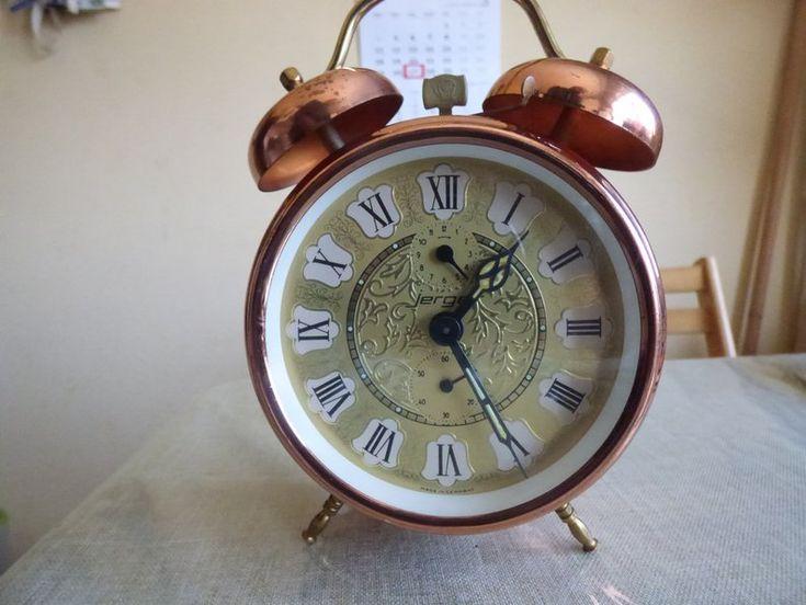 Vintage Alarm clock German Jerger Alarm Clock Large Copper ...