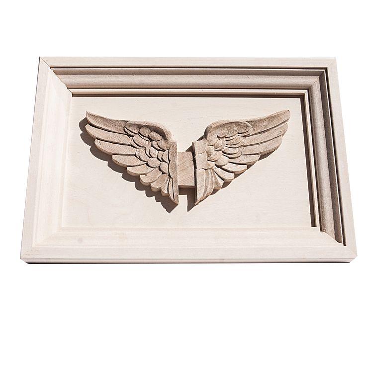 Hand sculptured Wooden Oak frame of the Wings of Hermes