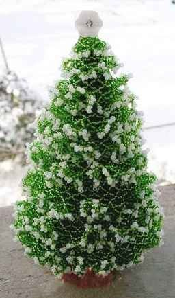 Master class. Weave Bead Christmas trees.