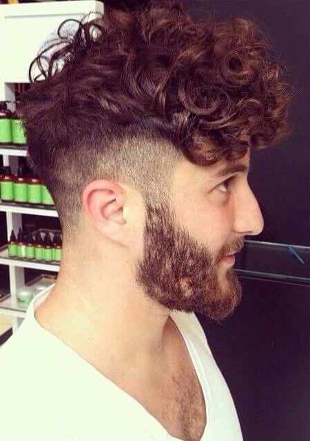 Classic Look In Curly Hair, Beard And Short Stubble Beard
