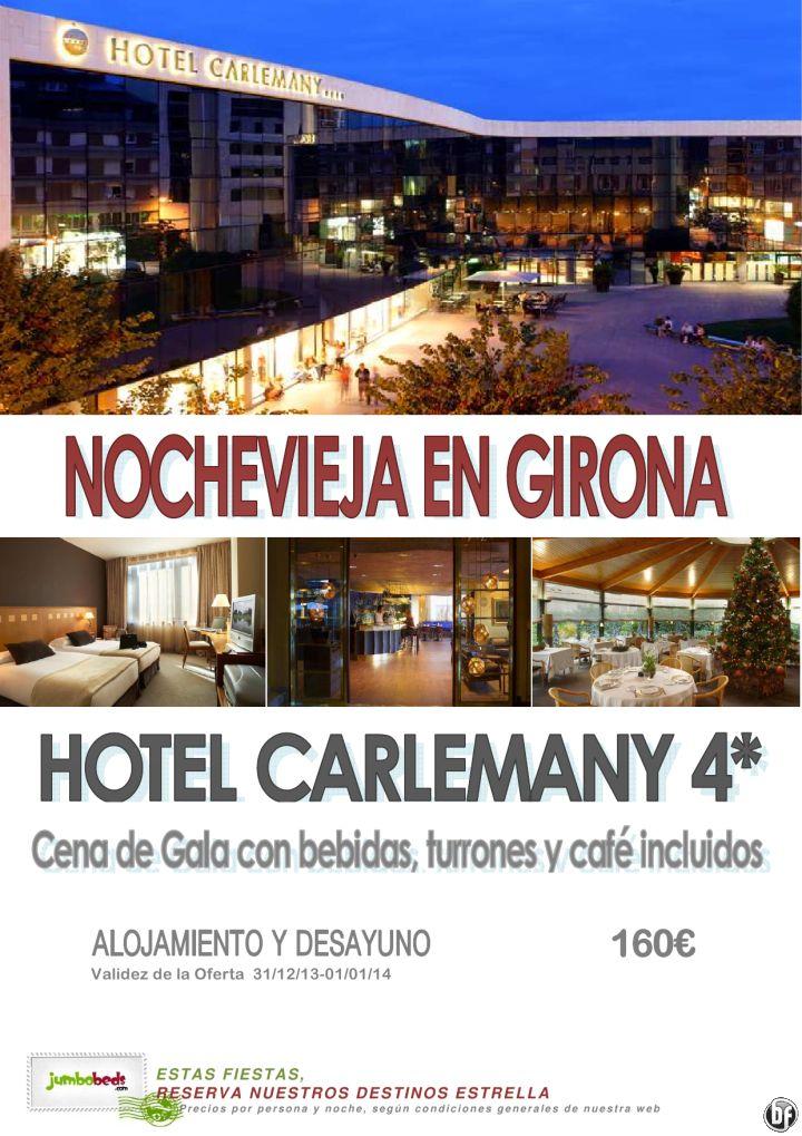 ¡¡Nochevieja en Girona hotel Carlemany 4* 160€ pax/día cena de gala+Turrón+Café!! ultimo minuto - http://zocotours.com/nochevieja-en-girona-hotel-carlemany-4-160e-paxdia-cena-de-galaturroncafe-ultimo-minuto/