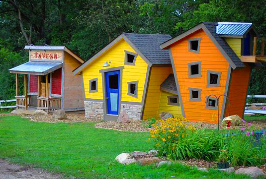 We build clubhouses and birdhouses!  You gotta check these out.  You pick the colors we do the rest.