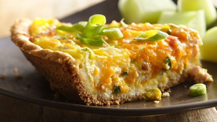 Looking for a classic French breakfast using Bisquick® mix? Then check out this cheesy ham and pineapple quiche that's baked to perfection.