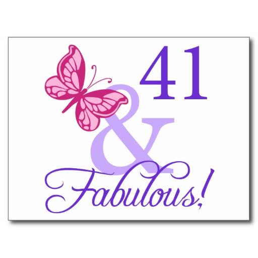 41 And Fabulous Birthday Postcard