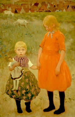 ▫Duets▫ sisters, twins & groups of two in art and photos - Gari Melchers | las hermanas