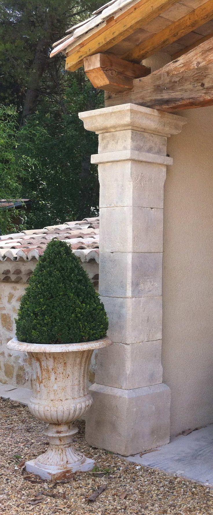 French Limestone Columns