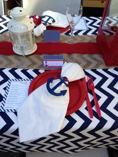 burlap and red picnic tablescape - Google Search