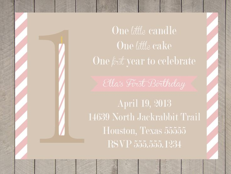 Best First Birthday Invitations Images On Pinterest First - Vintage girl birthday invitation
