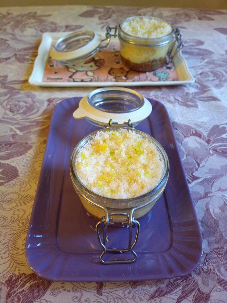 Mini Cheesecake in barattolo al microonde in 5 minuti