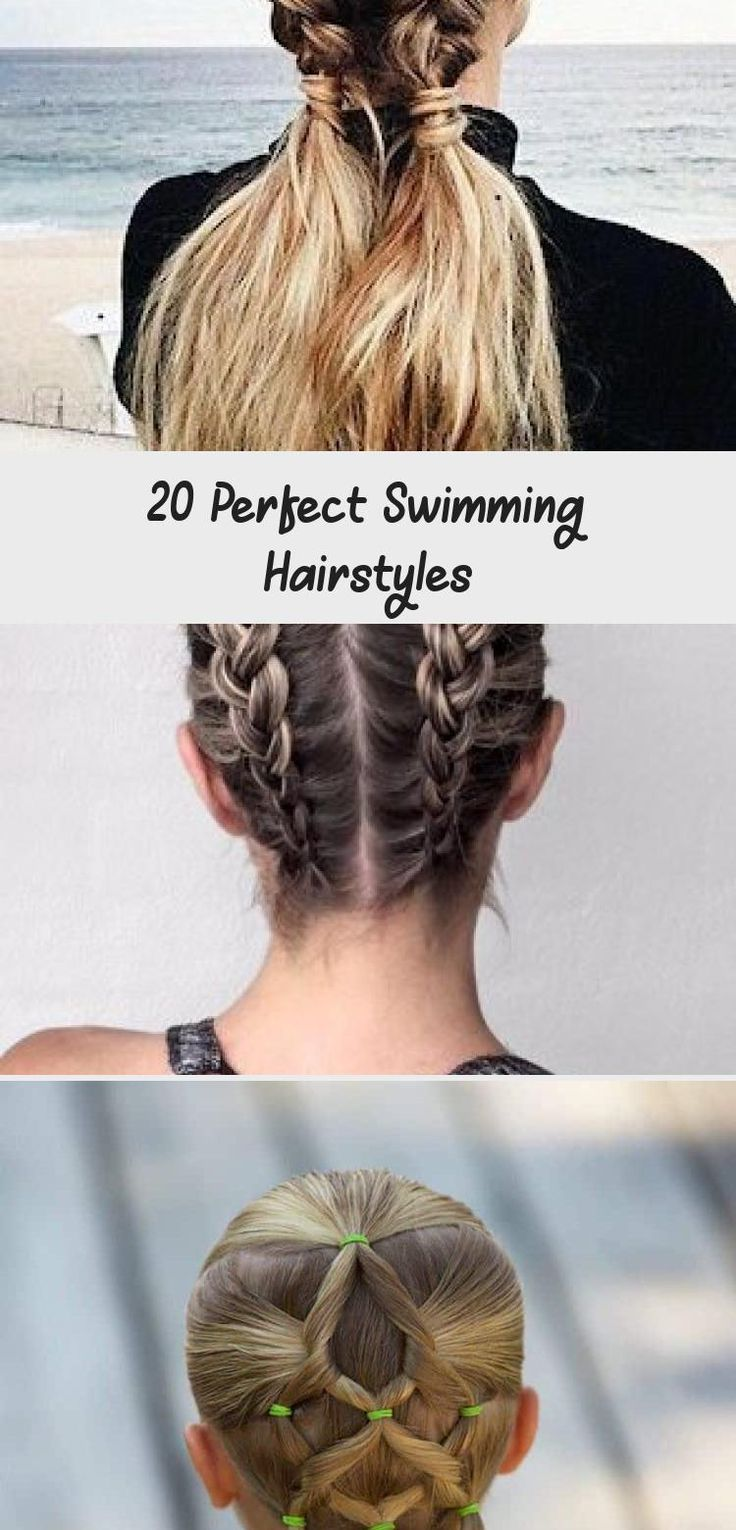 20 Perfect Swimming Hairstyles in 2020   Swimming ...