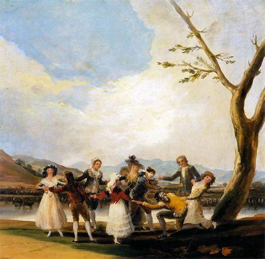 Francisco de Goya. Cuadros: La gallina ciega