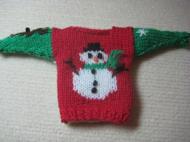 Ugly christmas sweater pattern