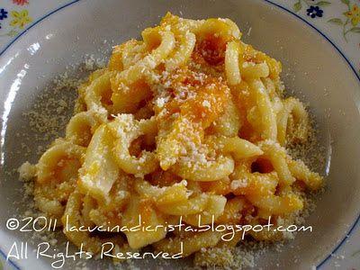 WHB#307 Gramigna con zucca cotta e mozzarella - Paste cu dovleac copt si mozzarella - Gramigna ( pasta ) with roasted pumpkin and mozzarella