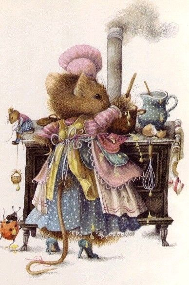Marjolein Bastin... Vera the mouse is making treats for all of her No Pin Limits buddies!~