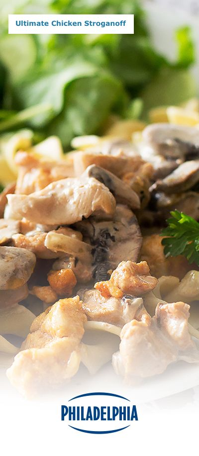 There's a reason we call this recipe our Ultimate Chicken Stroganoff. It's the ultimate blend of Chicken, Noodles, and the creamy taste of Philadelphia Cream Cheese. Perfect for dinner, it also makes for a tasty lunch – just make sure there's leftovers, because this creamy dish goes fast!