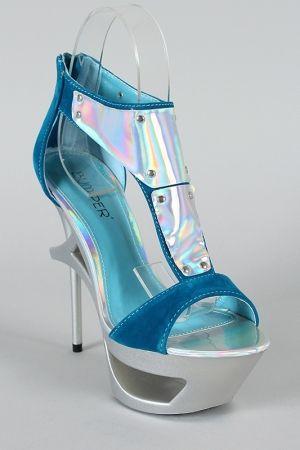 futuristic fashion, Futuristic Shoes, Holographic, Future Fashion, Jerrica, blue, futuristic style, futuristic look, future girl,holographic by FuturisticNews.com