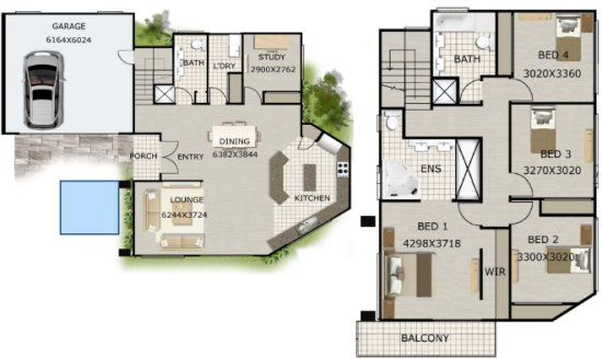 2 Storey Home Plans