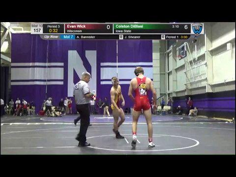 Colston DiBlasi (Iowa State) vs Evan Wick (Wisconsin) - Midlands Wrestling tournament