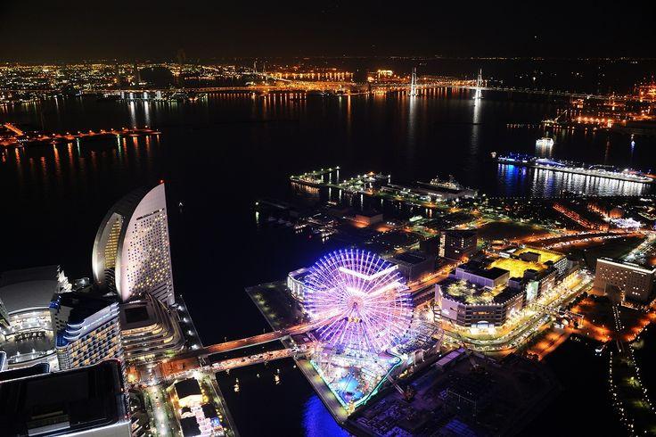 見下ろす夜のみなとみらい #みなとみらい #夜景 #スカイガーデン ランドマークタワー #横浜