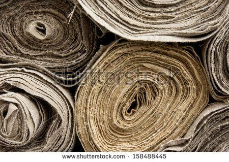 Rolls of homemade  linen