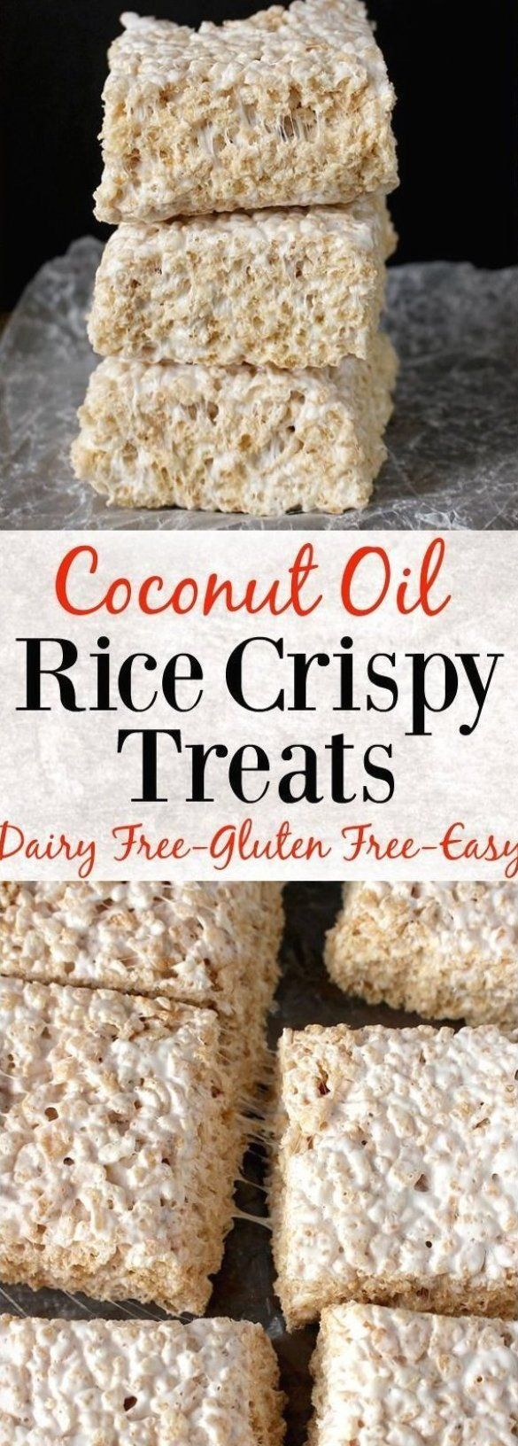 Coconut Oil Rice Crispy Treats- 3 ingredients and 10 ...
