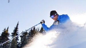 Adam Stein takes a Big Mt. ski for a test run at Sun Peaks Resort, February 2015