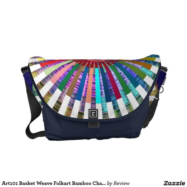 Art101 Basket Weave Folkart Bamboo Chakra Courier Bags