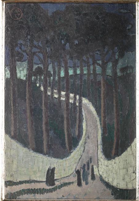 """""""Chemin dans les arbres"""" de Maurice Denis. Saint-Germain-en-Laye, musée Maurice Denis - Le Prieuré - Photo (C) RMN-Grand Palais / Benoît Touchard"""