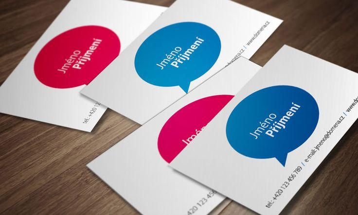 Šablonový návrh vizitek k použití zdarma při objednávce tisku.
