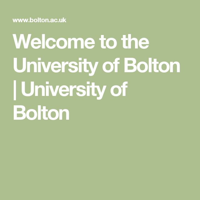 Welcome to the University of Bolton | University of Bolton