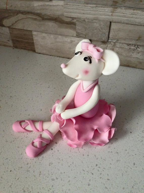 Angelina Ballerina Cake Topper by fondantfeatures on Etsy