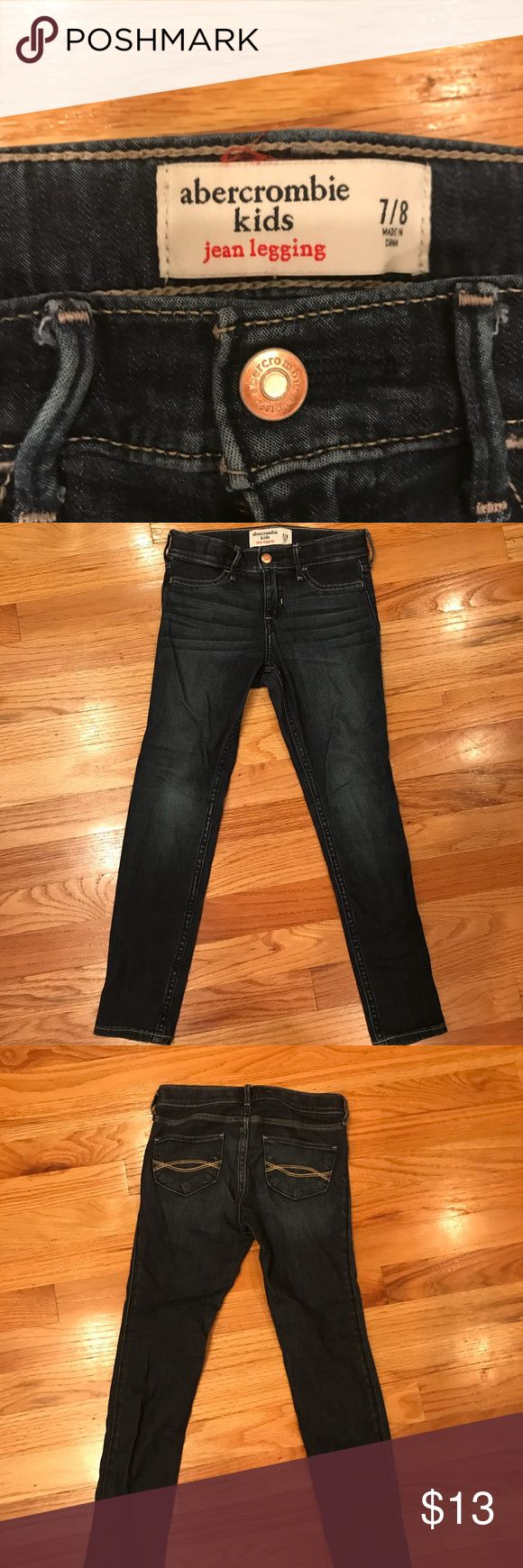 Abercrombie girls jean jeggings Abercrombie kids girls jean jeggings.  Size 7/8.  Worn only twice.  Run small.  Perfect condition. Abercombie Kids Bottoms Jeans