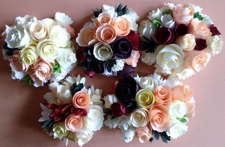 Centros de flores de papel para celebraciones, recuerdos, souvenirs a la venta en www.recordart.es