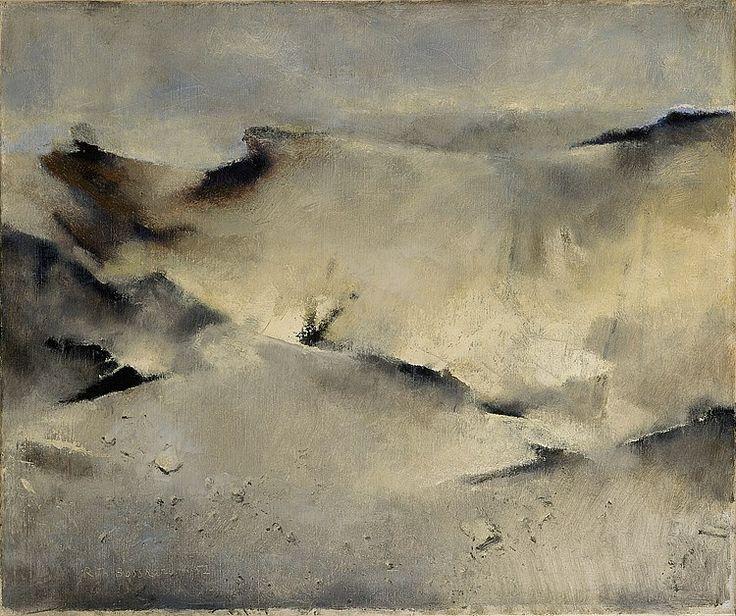Rodolphe-Théophile Bosshard (Swiss,1889 - 1960) Dunes IV, 1952 Oil on canvas, 46,4 x 55,3 cm