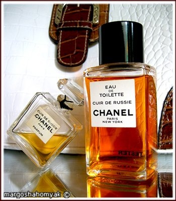 Chanel Cuir de Russie // purple florals entwined with leathery birch tar