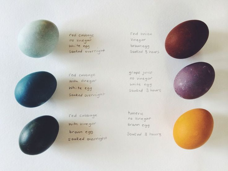 Naturally dyed eggs. Natural dye guide. kirstenrickert.com